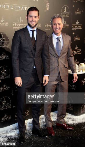 Mario Suarez and Moises Chocron attend the Chocron Jewelry party in the retirement park of Florida on November 22 2017 in Madrid Spain