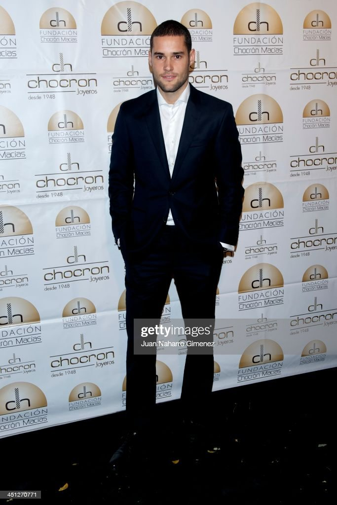 Mario Suarez attends Chocron Jewelry Charity Catalogue presentation at Teatriz Restaurant on November 21, 2013 in Madrid, Spain.