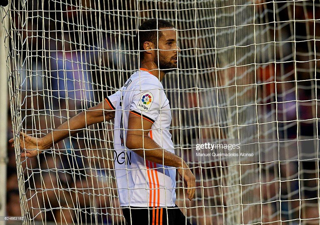 Mario Suarez of Valencia looks on during the La Liga match between Valencia CF and Granada CF at Mestalla Stadium on November 20, 2016 in Valencia, Spain.
