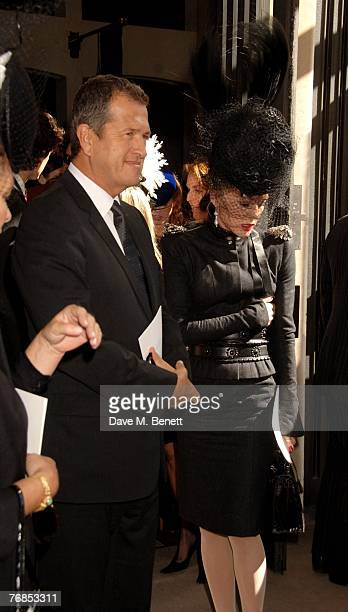 Mario Testino and Daphne Guinness attend the Isabella Blow tribute at the Guards Chapel on September 18 2007 in London England