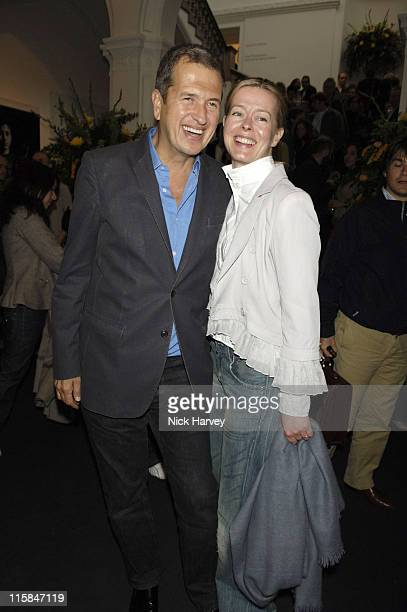 Mario Testino and Lady helen Taylor during Photo London Private View Inside at Royal Academy in London Great Britain