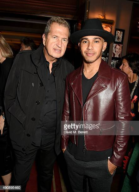 Mario Testino and Lewis Hamilton attend the London launch of Casamigos Tequila and Cindy Crawford's book 'Becoming' hosted by Rande Gerber George...
