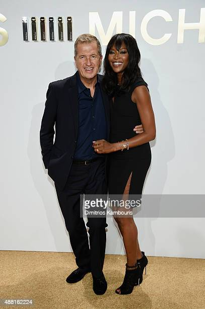 Mario Testino and Naomi Campbell attend the new Gold Collection fragrance launch hosted by Michael Kors featuring Duran Duran at Top of The Standard...