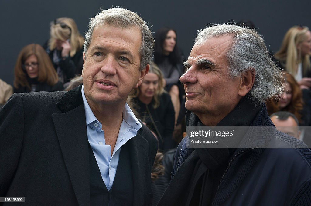 Mario Testino (L) and Patrick Demarchelie attend the Chanel Fall/Winter 2013/14 Ready-to-Wear show as part of Paris Fashion Week at Grand Palais on March 5, 2013 in Paris, France.