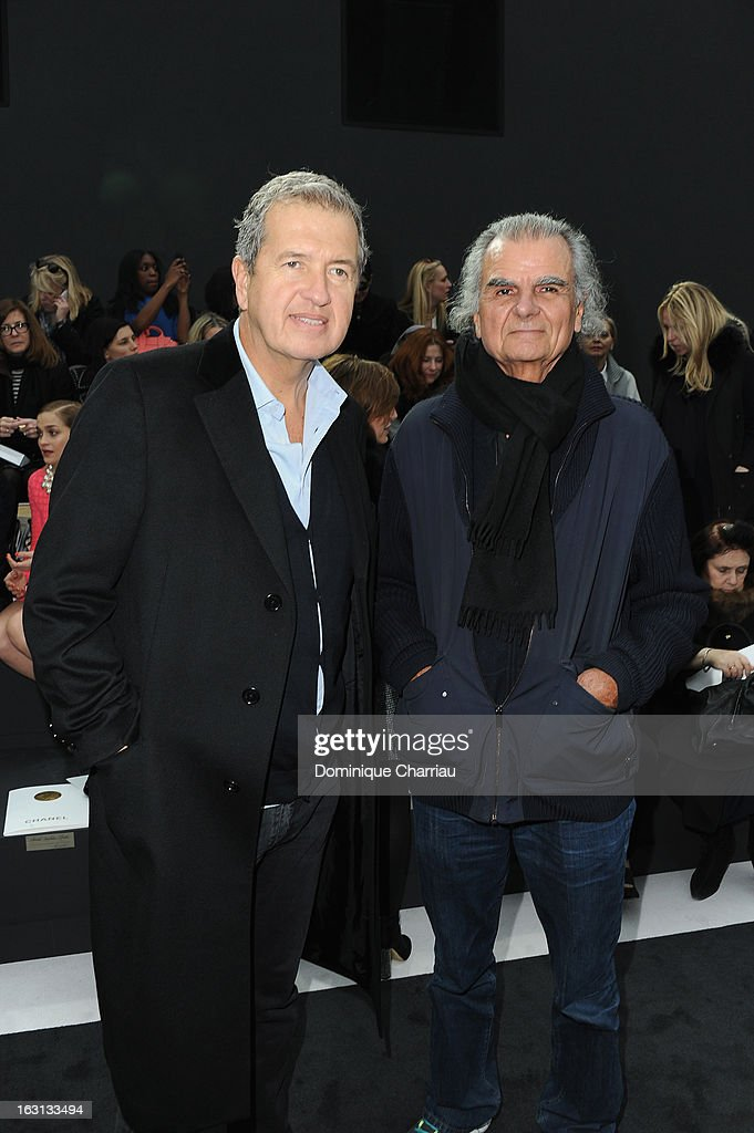 <a gi-track='captionPersonalityLinkClicked' href=/galleries/search?phrase=Mario+Testino&family=editorial&specificpeople=203087 ng-click='$event.stopPropagation()'>Mario Testino</a> and <a gi-track='captionPersonalityLinkClicked' href=/galleries/search?phrase=Patrick+Demarchelier&family=editorial&specificpeople=2118326 ng-click='$event.stopPropagation()'>Patrick Demarchelier</a> attend the Chanel Fall/Winter 2013 Ready-to-Wear show as part of Paris Fashion Week at Grand Palais on March 5, 2013 in Paris, France.