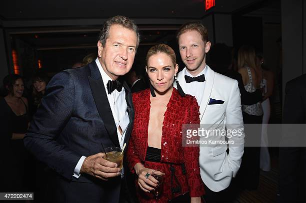 Mario Testino and Sienna Miller attend Michael Kors and iTunes After Party at The Mark Hotel on May 4 2015 in New York City