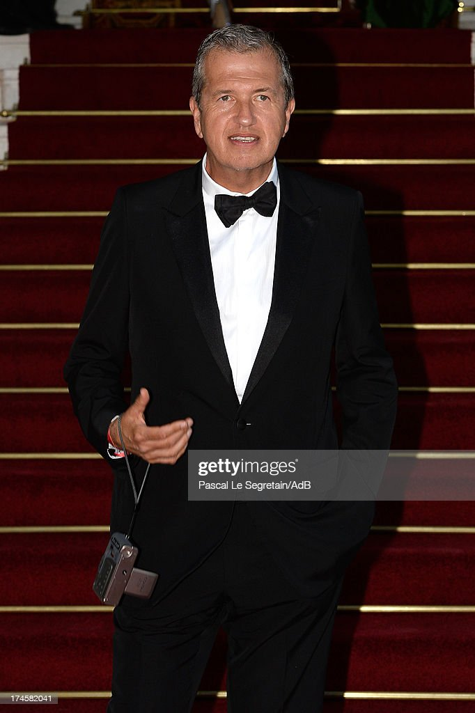 Mario Testino arrives at 'Love Ball' hosted by Natalia Vodianova in support of The Naked Heart Foundation at Opera Garnier on July 27, 2013 in Monaco, Monaco.