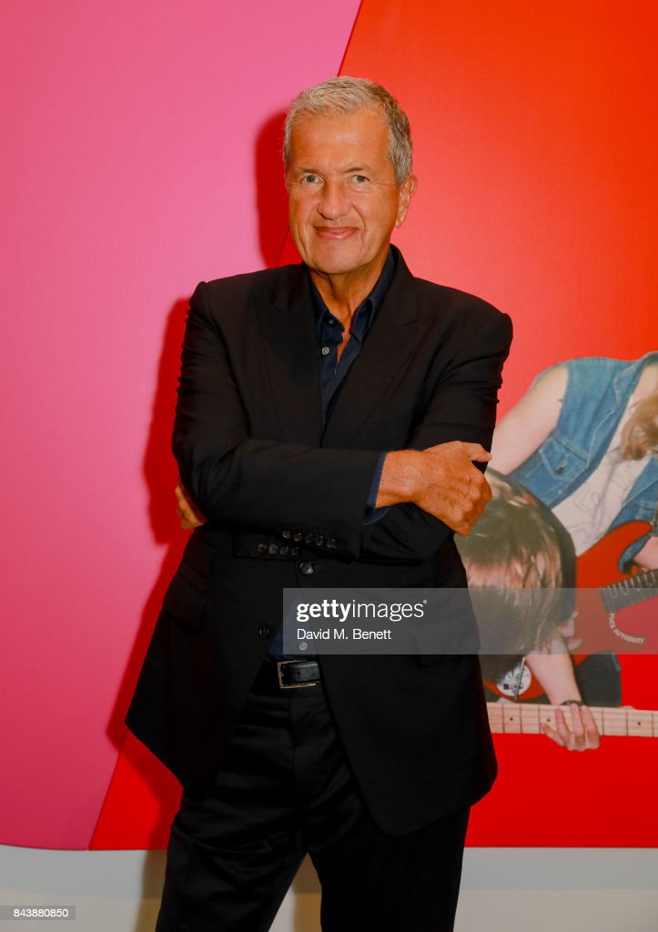 Mario Testino attends a dinner at Sotheby's to celebrate the opening of 'Shake It Up: Works from the Mario Testino Collection', an auction to benefit Museo MATE, Lima, Peru, on September 7, 2017 in London, England.