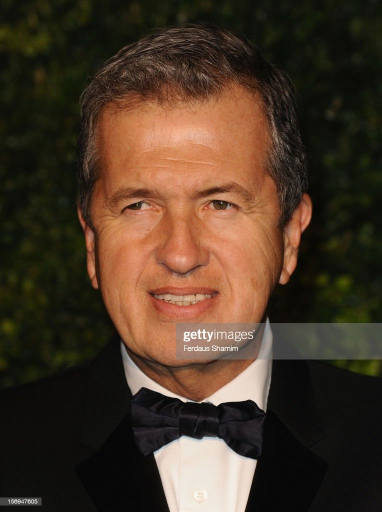 Mario Testino attends the London Evening Standard Theatre Awards on November 25, 2012 in London, England.