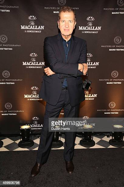 Mario Testino attends The Macallan Masters of Photography Mario Testino Edition Launch Event at Gramercy Terrace at The Gramercy Park Hotel on...