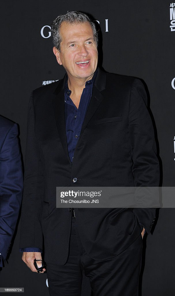 Mario Testino attends the 'Mario Testino: Private View' Photographic Exhibition Opening at GUCCI flagship store on October 18, 2013 in Seoul, South Korea.
