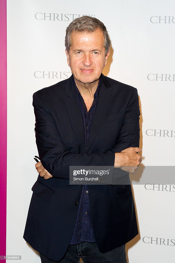 Mario Testino attends the private view of The Suzy Menkes Collection: In My Fashion at Christie's on July 11, 2013 in London, England.