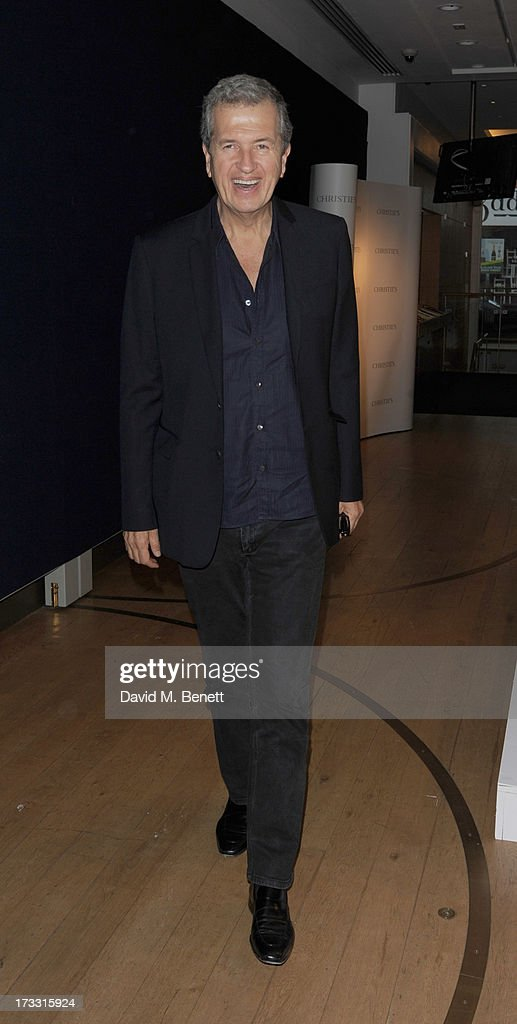 Mario Testino attends the private view of 'The Suzy Menkes Collection: In My Fashion' at Christie's on July 11, 2013 in London, England.