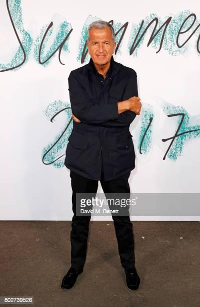 Mario Testino attends The Serpentine Galleries Summer Party at The Serpentine Gallery on June 28 2017 in London England