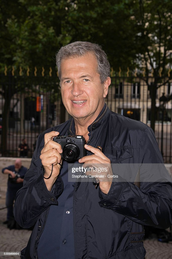 Mario Testino attends the Versace show as part of Paris Fashion Week - Haute Couture Fall/Winter 2014-2015 on July 6, 2014 in Paris, France.