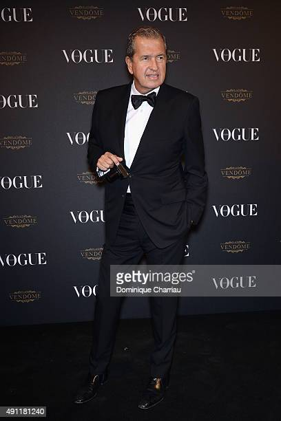 Mario Testino attends the Vogue 95th Anniversary Party Photocall as part of the Paris Fashion Week Womenswear Spring/Summer 2016 on October 3 2015 in...