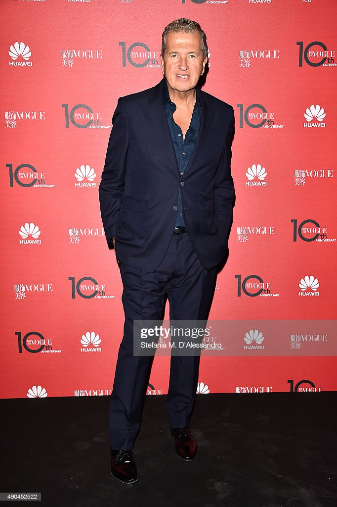 <a gi-track='captionPersonalityLinkClicked' href=/galleries/search?phrase=Mario+Testino&family=editorial&specificpeople=203087 ng-click='$event.stopPropagation()'>Mario Testino</a> attends Vogue China 10th Anniversary at Palazzo Reale on September 28, 2015 in Milan, Italy.