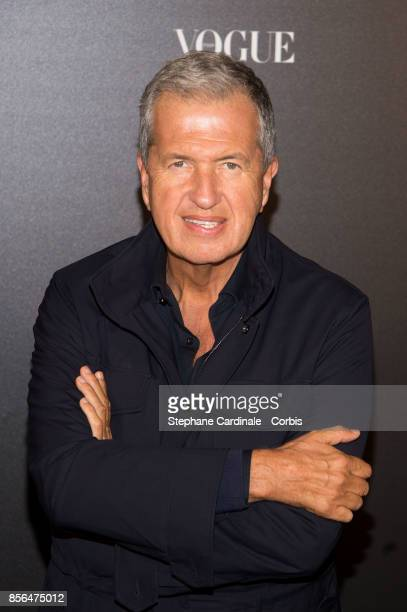 Mario Testino attends Vogue Party as part of the Paris Fashion Week Womenswear Spring/Summer 2018 at on October 1 2017 in Paris France