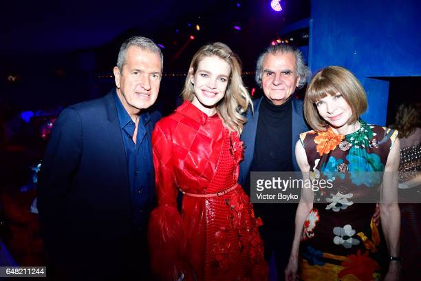 Mario Testino Natalia Vodianova Patrick Demarchelier and Anna Wintour attend Natalia Vodianova's birthday Vogue Cabaret Party as part of the Paris...