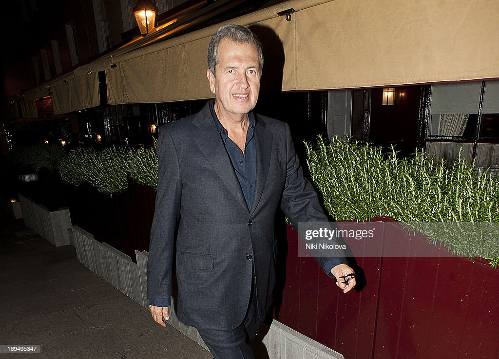 Mario Testino sighting at Lulu Restaurant, Mayfair on May 25, 2013 in London, England.