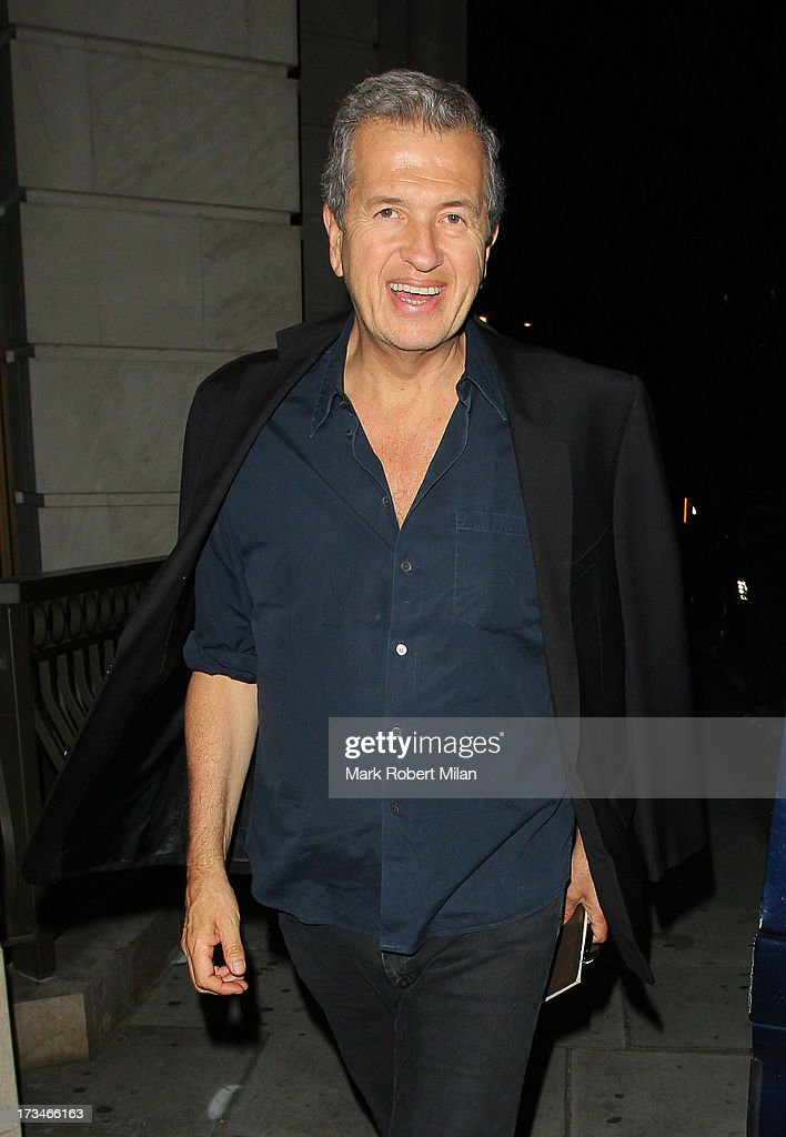 Mario Testino sighting on July 14, 2013 in London, England.