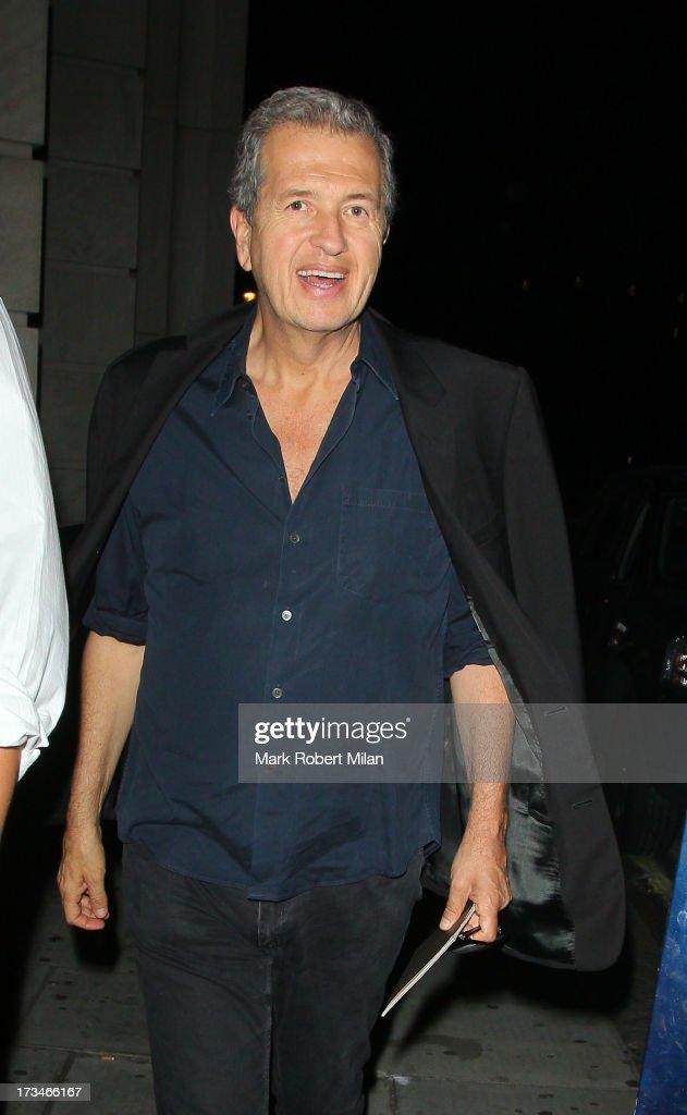 Mario Testino sighting on July 14, 2013 in London, England.