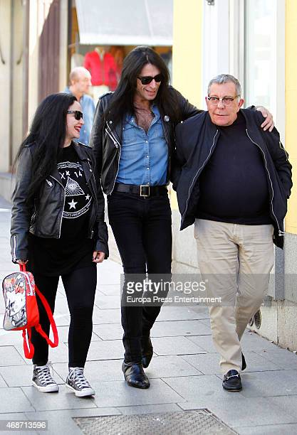 Mario Vaquerizo and Alaska are seen on April 1 2015 in Madrid Spain