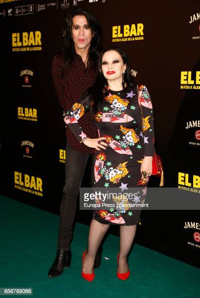 Mario Vaquerizo and Alaska attend 'El Bar' premiere at Callao cinema on March 22 2017 in Madrid Spain