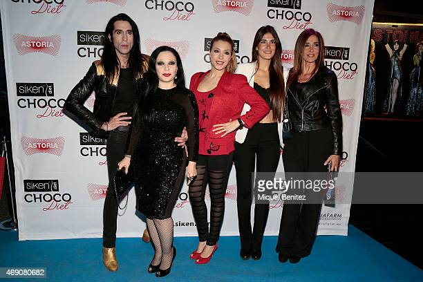 Mario VaquerizoSinger Olvido Gara 'Alaska' Gisela LLado 'Gisela' Lidia Torrent and Elsa Anka attend 'Choco Diet' by Siken at Astoria theater on April...