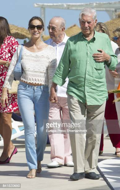 Mario Vargas Llosa and Isabel Preysler are seen on August 31 2017 in Marbella Spain