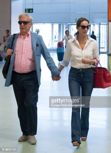 Mario Vargas Llosa and Isabel Preysler are seen on July 18 2017 in Ibiza Spain