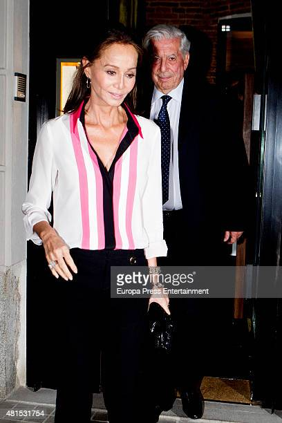 Mario Vargas Llosa and Isabel Preysler are seen on June 10 2015 in Madrid Spain