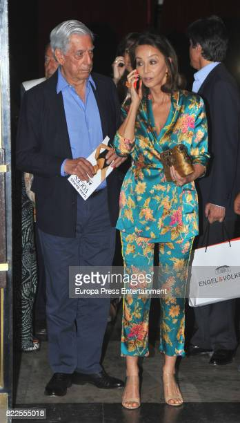 Mario Vargas Llosa and Isabel Preysler are seen on June 7 2017 in Madrid Spain