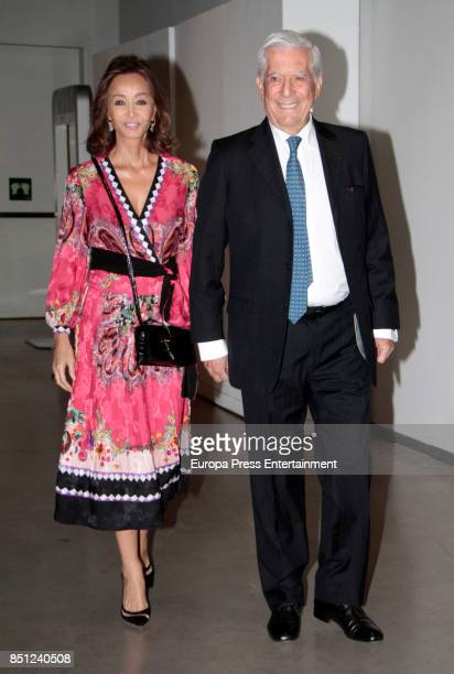 Mario Vargas Llosa and Isabel Preysler attend a conference about Vargas Llosa's last book 'Conversacion en Princeton' on September 21 2017 in Madrid...