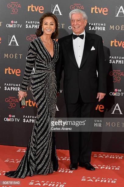 Mario Vargas Llosa and Isabel Preysler attend Goya Cinema Awards 2016 at Madrid Marriott Auditorium on February 6 2016 in Madrid Spain