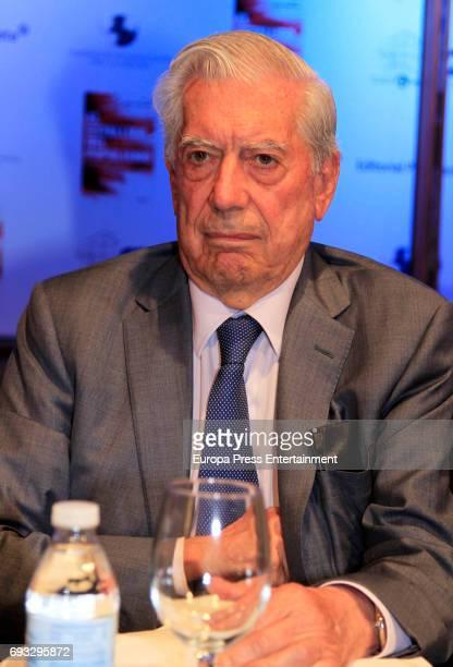 Mario Vargas Llosa attends 'El Estallido Del Populismo' book presentation at Casa de America on June 6 2017 in Madrid Spain