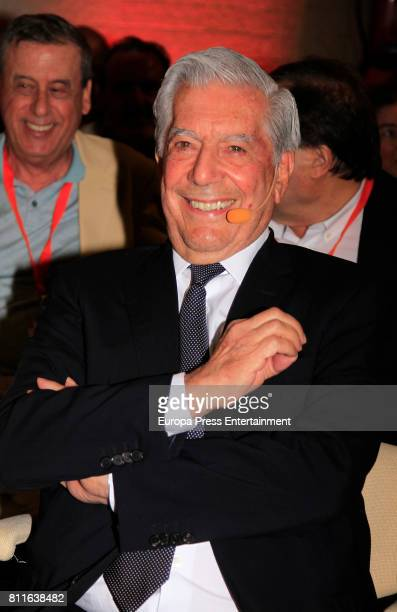 Mario Vargas Llosa attends the opening of Ciudadanos Party summer courses on July 7 2017 in Madrid Spain