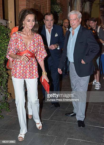 Mario Vargas Llosa Isabel Preysler and Fernando Fernandez Tapias are seen on July 09 2015 in Madrid Spain