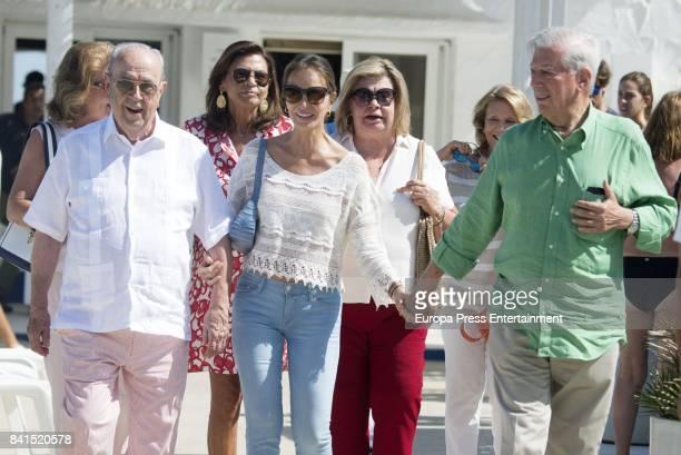 Mario Vargas Llosa Isabel Preysler and Marisa de Borbon are seen on August 31 2017 in Marbella Spain