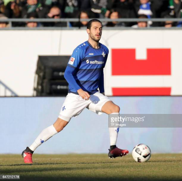 Mario Vrancic of Darmstadt controls the ball during the Bundesliga match between SV Darmstadt 98 and Borussia Moenchengladbach at Stadion am...