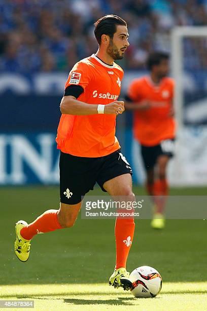 Mario Vrancic of Darmstadt in action during the Bundesliga match between FC Schalke 04 and SV Darmstadt 98 held at VeltinsArena on August 22 2015 in...