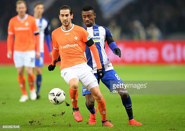 Mario Vrancic of SV Darmstadt 98 and Salomon Kalou of Hertha BSC during the game between Hertha BSC and SV Darmstadt 98 on december 21 2016 in Berlin...