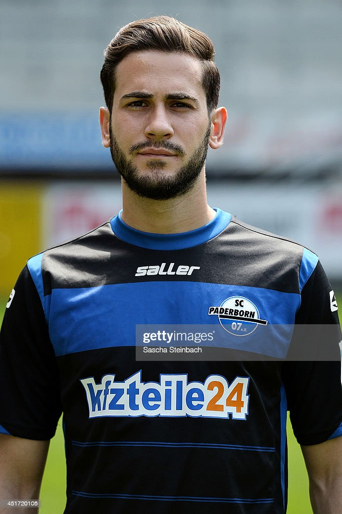 Mario Vrancic poses during SC Paderborn 07 team presentation at Benteler-Arena on July 4, 2014 in Paderborn, Germany.