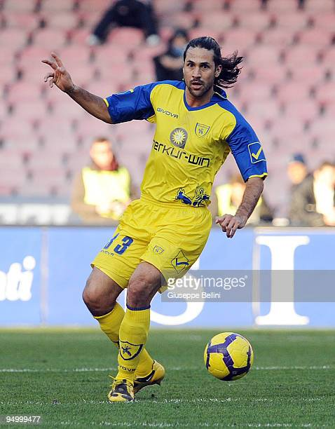 Mario Yepes of AC Chievo in action during the Serie A match between Napoli and Chievo at Stadio San Paolo on December 20 2009 in Naples Italy