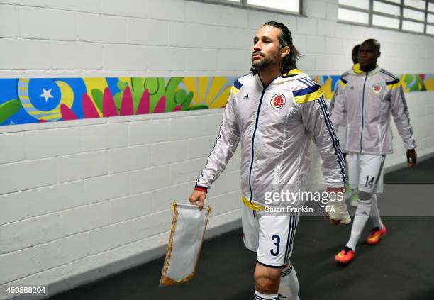 Mario Yepes of Colombia walks in the tunnel prior to the 2014 FIFA World Cup Brazil Group C match between Colombia and Cote D'Ivoire at Estadio...