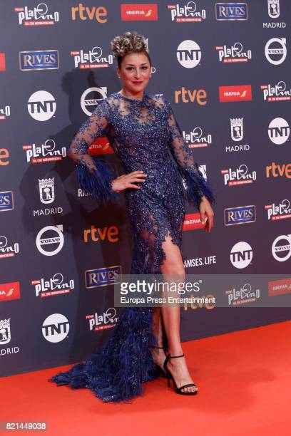 Mariola Fuentes attends Platino Awards 2017 at La Caja Magica on July 22 2017 in Madrid Spain