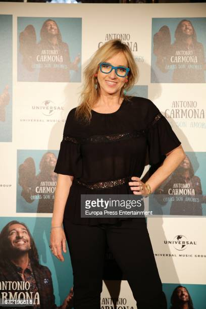 Mariola Orellana attends the presentation of Antonio Carmona's album 'Obras son amores' on April 21 2017 in Madrid Spain