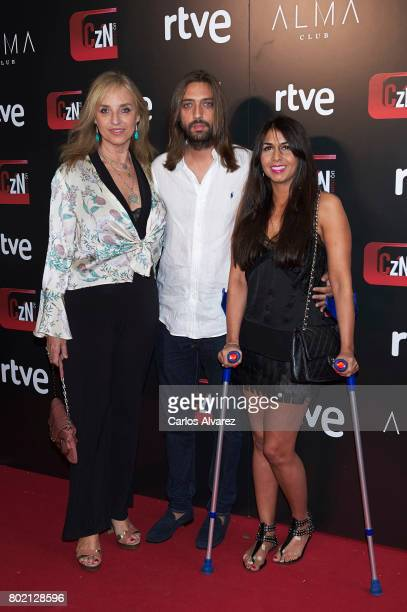 Mariola Orellana Sara Verdasco and Juan Carmona attend 'Corazon' TV programme 20th Anniversary at the Alma club on June 27 2017 in Madrid Spain