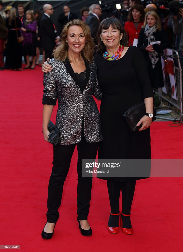 Marion Bailey and Dorothy Atkinson attend a screening of 'Mr Turner' during the 58th BFI London Film Festival at Odeon West End on October 10, 2014 in London, England.