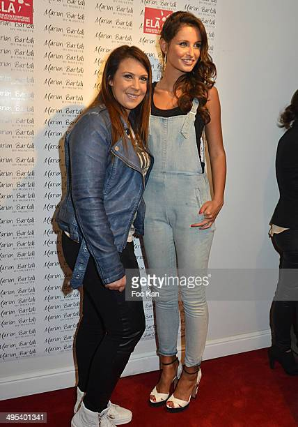 Marion Bartoli and Malika Menard attend the Marion Bartoli By Musette Launches 'Premier Envol' Collection at Musette Paris on June 2 2014 in Paris...